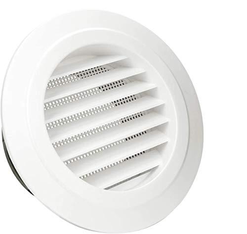 Rejilla de ventilación 100 mm, HG Power anti-insectos ABS Respiraderos de Láminas para rejilla ventilación Escape Rejilla canal Abdeckungs para baño cocina Garage