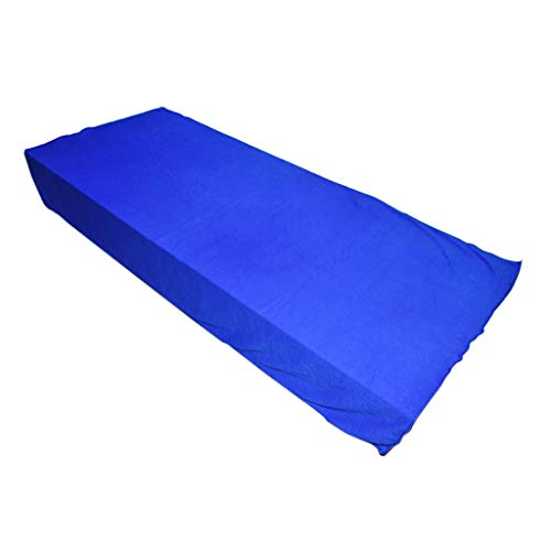 Ogquaton Toallas de baño Toallas de playa Toallas de microfibra Toallas de microfibra para ducha, viajes o camping, alrededor de 70 x 140 cm, color azul práctico y útil