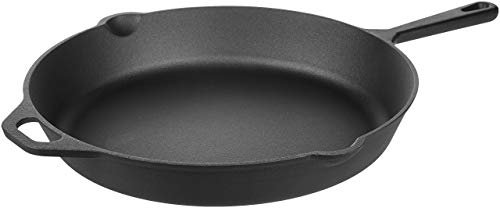 AmazonBasics Pre-Seasoned Cast Iron Skillet Pan, 15 Inch