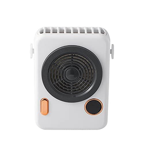 KRISVA Ventilador de banda para el cuello de refrigeración portátil con pilas Ventilador USB portátil manos libres Mini ventilador personal sin aspas para carrito de golf, cochecito de coche