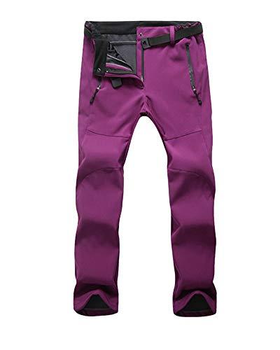 Hommes/Femmes Unisex Pantalon de randonnée imperméable Respirant Léger Pantalons de Survêtement Sport Pantalon de Trekking Femmes Rouge-Violet M
