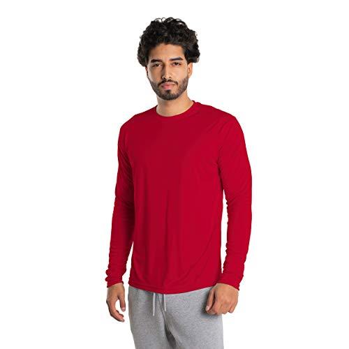 Vapor Apparel Herren Atmungsaktives UPF 50+ UV Sonnenschutz Langarm Funktions T-Shirt M Mars Rot