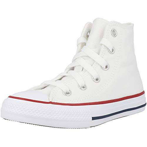 3J253C CONVERSE Zapatos Blancos Blancos Todas Las Altas Zapatillas de Deporte Unisex Estrella 35