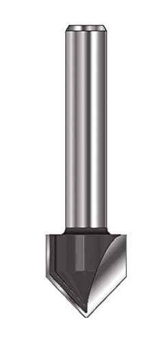 ENT 12040 V-Nutfräser und Schriftenfräser HW (HM), Schaft (C) 8 mm, Durchmesser (A) 12,7 mm, B 15,9 mm, E 60°, D 32 mm