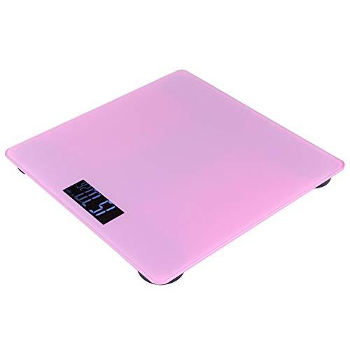 Emoshayoga Bilancia Pesapersone Elettronica Digitale Intelligente Portatile per Uso Domestico Rosa 3 Kg-180 kg per Percentuale di Grasso BMI Peso Corporeo Body