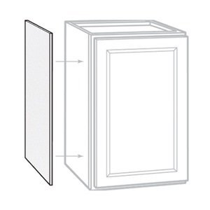 "Rsi Home Products Sales 2 Pack 12"" X 30""H X 1/4"" D White Finish Wall Cabinet End Panel, 12"" by 30"""