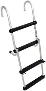 Windline FDL-4B Marine Removable Folding Pontoon Boat Ladder with 4 Plastic Steps