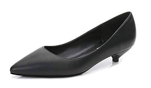 Soulength Frauen Kitten Heels Punkt Zehen Große Damen Pumps rutschfeste Gummisohle Sexy Elegante Komfortable Einzelne Schuhe 34-43EU