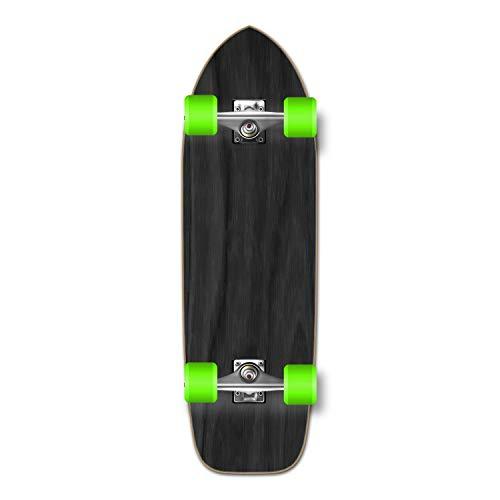 Yocaher Blank/Checker Complete Old School Skateboards Longboard Cruiser Black Widow Premium 80A Grip Tape Aluminum Truck ABEC7 Bearing 70mm Skateboard Wheels (Complete - Old School - 02 - Black)