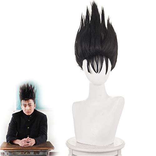 Tokio desde hoy es mi turno Shinji Ito Cosplay peluca hombres pelucas negras Kyou Kara Ore Wa disfraz juego de rol peluca + gorro de peluca