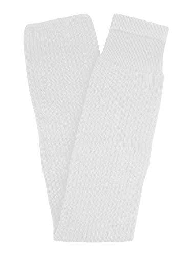 TCK - Calcetines de hockey sobre hielo de punto acanalado para jóvenes y adultos, fabricados en Estados Unidos, Blanco, Adult 28'-30'