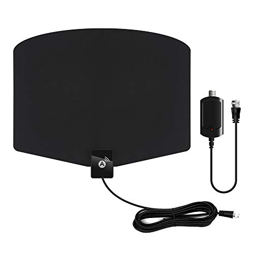 TV Antenna, Amplified HD Indoor Digital HDTV Antenna 120+ Miles Range with Amplifier Signals Booster Support 4K 1080p HDTV and All Old Tv for Local Channels