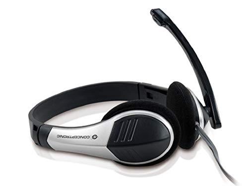 Conceptronic C08-045 - Auriculares de diadema abiertos (con micrófono), negro