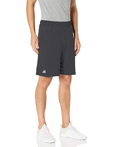Russell Athletic Men's Cotton Baseline Short with Pockets, Stealth , L