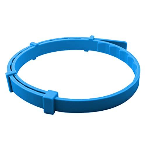 perfk Collar Antipulgas Y Garrapatas, Aceite Esencial Natural a Base de Plantas, Repele Pulgas Y Garrapatas de Forma Segura Y Eficaz, Resistente Al Agua, 8 - Azul para Perro