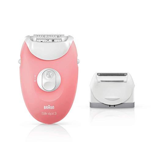 Braun Silk-épil 3 SE 3-440 - Principiantes 3 en 1 depilación, depiladora mujer, rasuradora, blanco/rosa