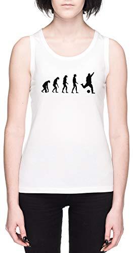 Evolucionado A Tocar Fútbol Blanca Mujer Camiseta De Tirantes Tamaño XL White Women