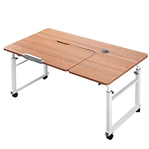 Mesas para ordenador Mesa de laptop ajustable del escritorio de levantamiento móvil con rueda, estudio de escritura de estudio plegable para el hogar de la oficina de la oficina Escritorio para oficin