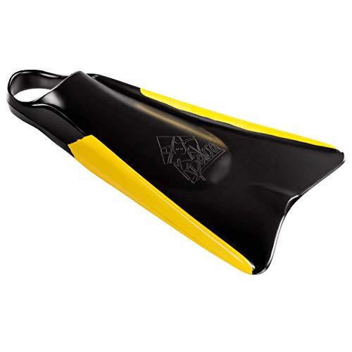 Nadadeira Pé de Pato Kpaloa Original Sideline Preto e Amarelo Bodyboarding L (41-42)