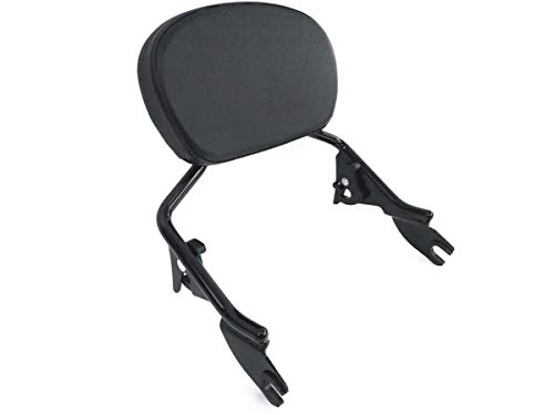 Low Short Gloss Black Detachable Sissy Bar Quick Release Backrest Upright With Passenger Pad & Bracket for Harley Davidson Touring like Street Glide Road King CVO Ultra Electra ref 54248-09A 51579-05A