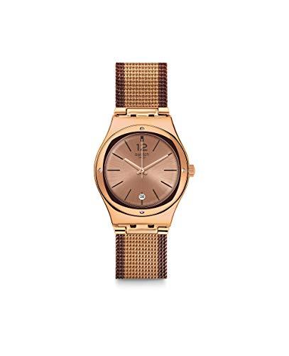 Swatch Reloj Analógico para Mujer de Cuarzo con Correa en Acero Inoxidable YLG408M