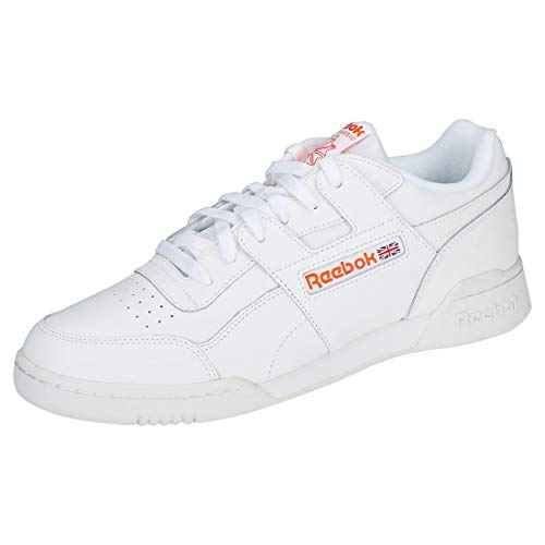 Reebok Workout Plus Mu, Zapatillas de Gimnasia Unisex Adulto, Blanco (Fcu/White/Bright Lava...