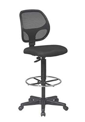 Deluxe Mesh Back Drafting Chair with Adjustable Footring