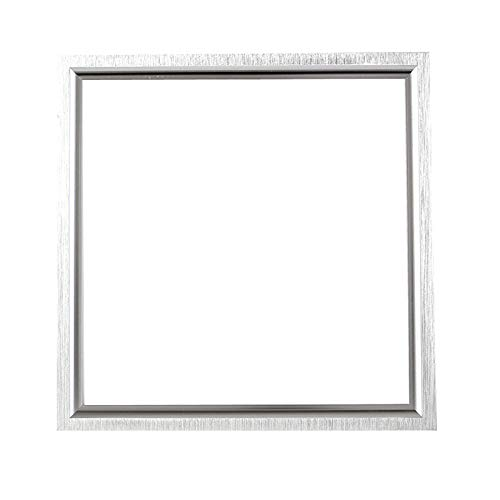 Panel de luz LED integrado 12W 300 * 300 mm Cuadrado Cocina Baño Oficina Luz de techo ultrafina 3 paquetes Luz blanca 6000k Marco de aluminio cepillado (Tamaño: 300 * 300 8W luz blanca)