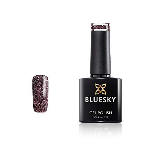 Bluesky FW1914 gel-nagellak, kleurtoon: Multi glitter, 10 ml (vereist uitharding onder UV-/LED-lamp)