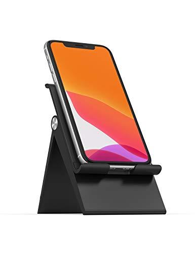 UGREEN Handy Ständer Handy Halter Handy Halterung verstellbar Handy Aufsteller Handyständer für Tisch Smartphone Ständer kompatibel mit iPhone 11 Pro Max XS, Galaxy S20 S10, Huawei P30 usw. (Schwarz)