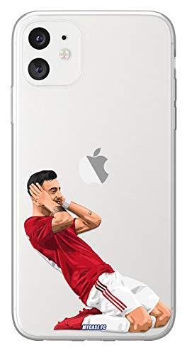 Cover Calcio Personalizzabile Bruno Manchester United Huawei P9 Lite, in Silicone, Custodia di Calcio per Smartphone Personalizzata e Realizzata in Francia in TPU