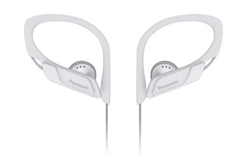 Panasonic RP-HS34E-W Clip Sportohrhörer (beständiges Material, größenverstellbarer Clip) weiß