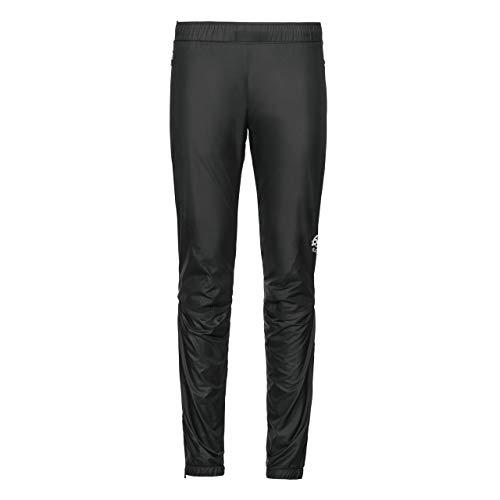Odlo Damen Pants Miles Light Hose, Black-Black, S