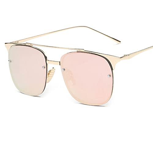 CHSDN Gafas de Sol Retro cuadradas, Lentes de Color, Gafas de Sol translúcidas, Suministros de sombrilla,A7