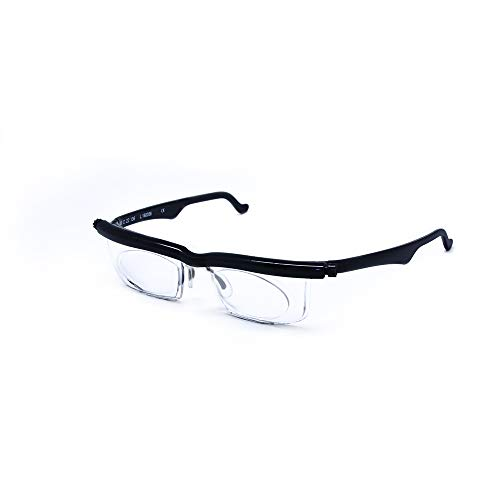 EnzoDate Adlens Adjustable Focus Eyeglasses -4D to +5D Diopters Myopia Magnifying Reading Glasses Variable Strength