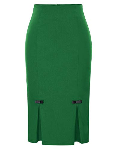 Belle Poque Plus Size Elegant Party Green Pencil Skirts Bow Knot XXL BP587-6
