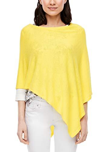 s.Oliver Damen Poncho aus Feinstrick yellow 1