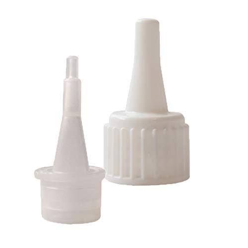 10x Schraubverschluss mit Tropfspitze für Sekundenkleber Industriekleber Tropfflaschen Rundflaschen DIN18 Gewinde