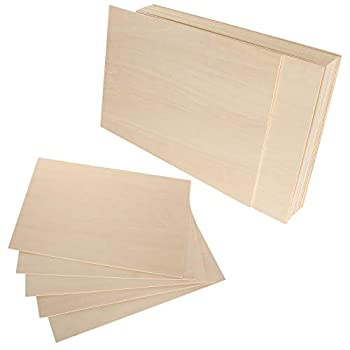 LANIAKEA 20 Pieces Plywood Sheets 8x12x1/16 Inch Rectangle Unfinished Basswood Wooden Sheets 1.5mm for Craft Hobby Model Making DIY Project