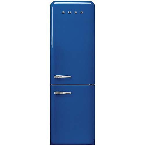 Smeg FAB32RBE3 - Frigorifero Combinato Anni  50, Blu, 331 Lt, 60 cm, Cerniere a Destra, A+++