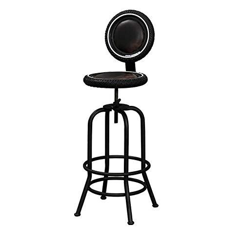 NAN liang Tabouret de bar industriel Chaise de bar hauteur réglable Tabouret Ergonomique Maison Avec Dossier Chaise Pivotante Styl. Industriel