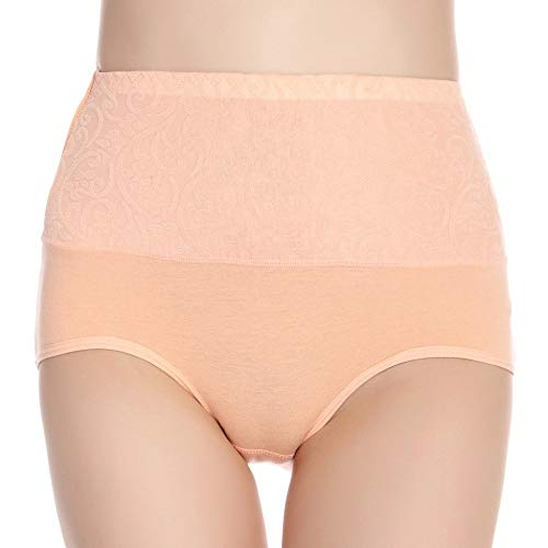 HUABEI Postpartum High Waist Briefs Women's Underwear Cotton Large Size Cotton Underwear Ladies Sexy briefsA-1Shallow shrimpA-1XXXXL MYJ