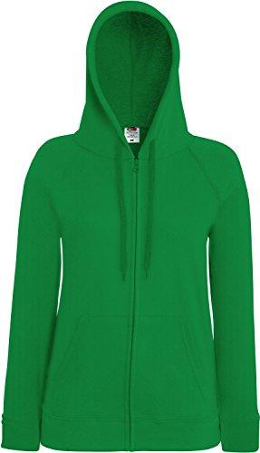 Fruit of the Loom Lady-Fit Lightweight Hooded Sweat Jacket 62-150-0 XXL,Kelly Green