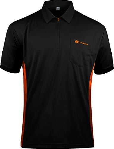 Target Darts Coolplay Hybrid Pro Darts Shirt Schwarz mit Orange 4XL