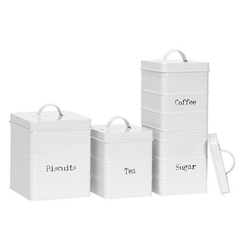 Harbour Housewares 4 Piezas de época para Preparar té caf�