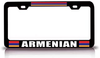 Decorative License Plate Frame Black Aluminum Metal, Custom License Plate Cover, Humor Funny Car Tag Holder, 2 Holes and Screws