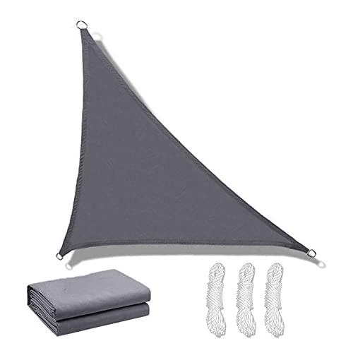 Vela de Sombra, Toldo Vela de Sombra Triangular de Jardín al Aire Libre Impermeable Gris, Parasol 95% de Protección Rayos UV 3x3x3m, 4x4x4m, 3.6x3.6x3.6m, con Cuerdas Li(Size:3*3*4.3m/10'*10'*14')