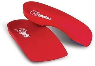 Vasyli Custom 3/4 Length Insoles, Red, Large