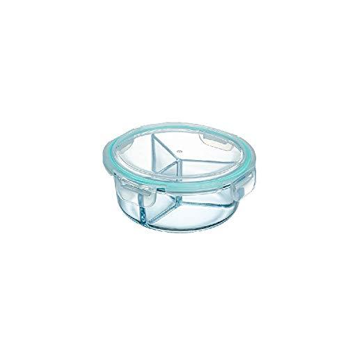 LHTCZZB Ronde compartiment avec couvercle étanche de stockage Classification frais-superposée garder Boîte PP réfrigérateur stockage de légumes frais de maintien des ménages et fruits Boîte de rangeme