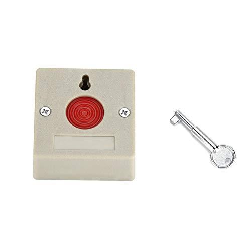 Kuuleyn Mini botón de pánico, DC 24V Seguridad Segura con Cable Oficina Familiar Mini Alarma de Emergencia Botón de pánico